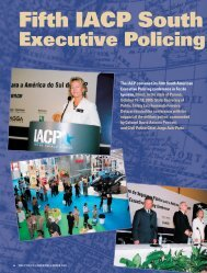 Fifth IACP South American Executive Policing Conference