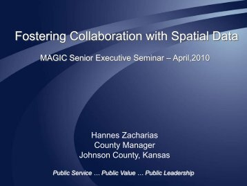 Fostering Collaboration with Spatial Data - MAGIC