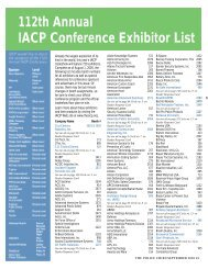 2005 Exhibitor List - Police Chief Magazine