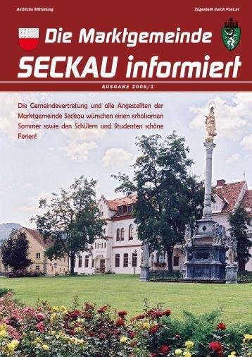 Die Marktgemeinde SECKAU informiert