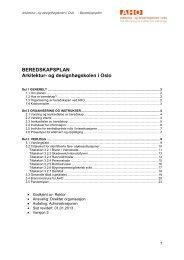 Beredsskapsplan AHO (2013) - Arkitektur- og designhøgskolen i ...