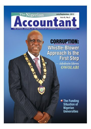 The Nigerian ACCOUNTANT - The Institute of Chartered ...