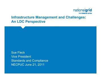 Infrastructure Management and Challenges - New England ...