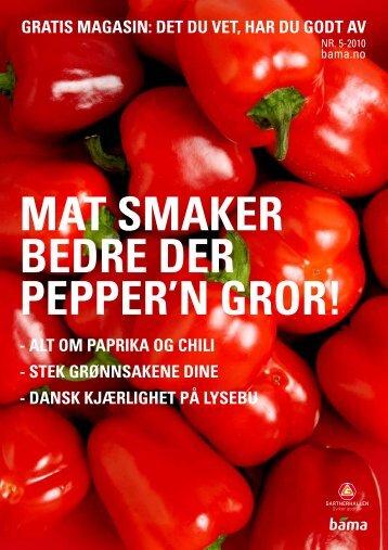 Magasin 5 Mat smaker bedre der pepper'n - Bama