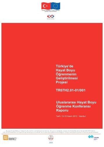 IC Rapor - Türkiye'de Hayat Boyu Öğrenmenin Geliştirilmesi Projesi