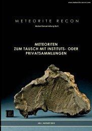 oder privatsammlungen - Meteorite Recon