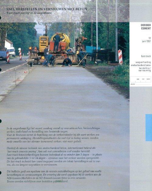 """snel herstellen en vernieuwen met beton. """"fast-track ... - Febelcem"""