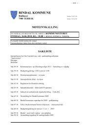 75 03 25 09 Org.nr.: 964 983 380 MVA - Bindal kommune