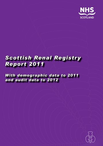 Scottish Renal Association - The Scottish Renal Registry