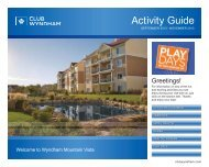 Activity Guide - Wyndham Vacation Resorts