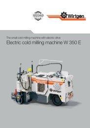 Electric cold milling machine W 350 E - Wirtgen