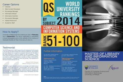 Download brochure - Faculty of Computer Science and Information
