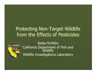Protecting Non-Target Wildlife from Pesticide Posoning - UCCE ...