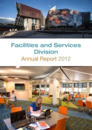 FSD Annual Report - 2012 - Facilities and Services - Monash ...