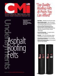 """"""" Top Quality Roofing Felts At Prices You Can Afford!"""" - Continental ..."""