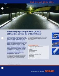 Introducing High Output White (HOW2) LEDs With A - Osram Sylvania