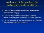 Prior shoulder dystocia