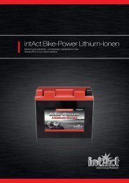 intAct Bike-Power Lithium-Ionen