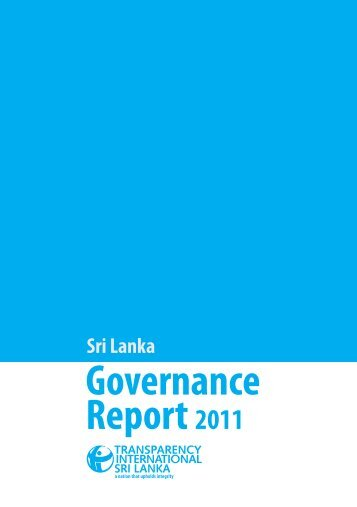 Governance Report 2011 - Transparency International Sri Lanka