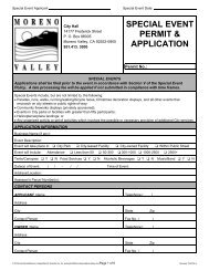 SPECIAL EVENT PERMIT & APPLICATION - City of Moreno Valley