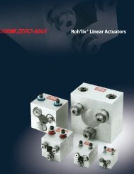 Roh'lix® Linear Actuators - Industrial and Bearing Supplies