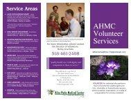 General Volunteering - Alice Hyde Medical Center