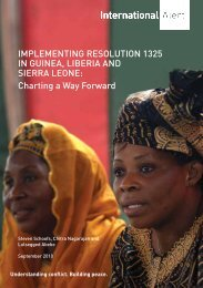 ImpLemeNtINg ReSoLutIoN 1325 IN guINeA ... - Peace Women