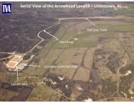 Aerial View of the Arrowhead Landfill – Uniontown, AL