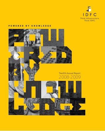 Twelfth Annual Report - IDFC