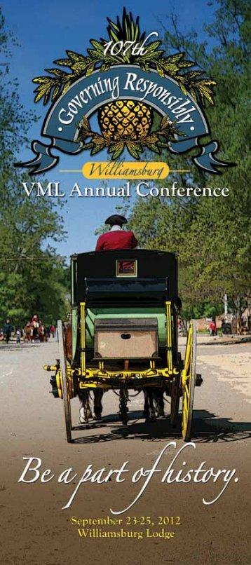 VML 2012 Annual Conference Program (PDF) - the Virginia ...