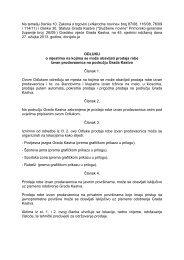 GV 45-Odluka o mjestima na kojima se može obavljati prodaja robe ...