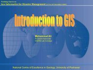 Introduction to GIS and its Usage - Mr. M. Ali - National Centre of ...