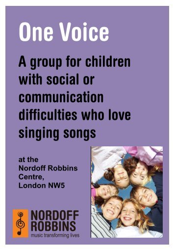 One Voice A5 leaflet V6 - Nordoff Robbins