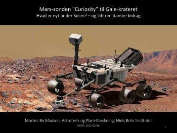 """Mars-sonden """"Curiosity"""" til Gale-krateret"""
