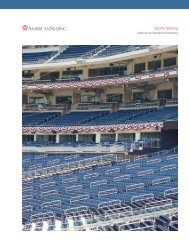 Sports Seating Literature - American Seating