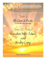 June 6 All Church Picnic June 28-July 2 Vacation Bible School and ...