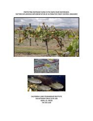 protecting instream flows in the napa river watershed - Napa Green