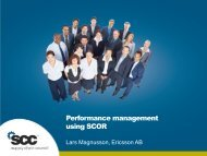 Performance management using SCOR - Supply Chain Council