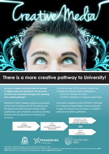 There is a more creative pathway to University!