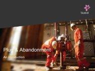Plug & Abandonment - Statoil Innovate