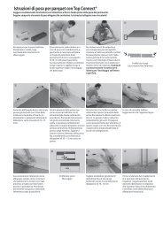 Istruzioni di posa per parquet con Top Connect® - Parquet e laminato