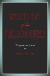 Wealth Tips of the Millionaires - EFTBooks.com