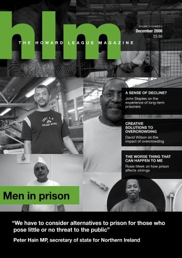 Men in prison - The Howard League for Penal Reform
