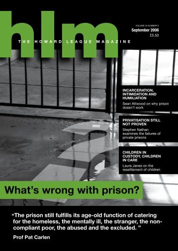 what's wrong with prison? - The Howard League for Penal Reform