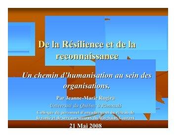 la résilience - Agence de la santé et des services sociaux du Bas ...