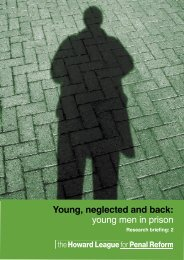 Young, neglected and back: young men in prison - The Howard ...
