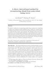PDF 148 kB - Theoretical Neurophysics