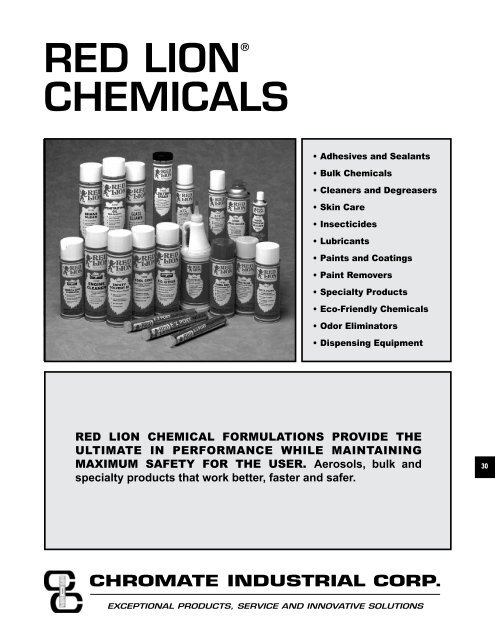 RED LION® CHEMICALS - Chromate Industrial Corporation