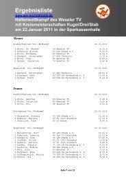 Weitere Ergebnisse hier. - WTV-leichtathletik.de