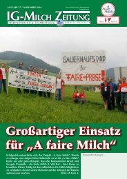 27. Zeitung, November 2010 - IG-Milch